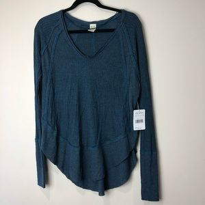 Free People Catalina V Neck Thermal Top